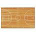 Flagship Carpets, Activity Basketball Court Rug, Orange and White, 5 x 8 Feet