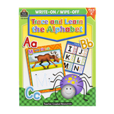 Teacher Created Resources, Write On/Wipe Off Trace and Learn the Alphabet, 32 Pages, Pre-K-K