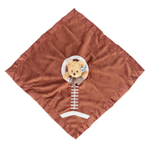 Bearington Baby Collection, Touchdown Bear Snuggler Blanket, Brown, 18 x 18 inches