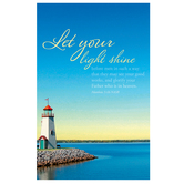 Salt & Light, Let Your Light Shine Church Bulletins, 8 1/2 x 11 inches Flat, 100 Count