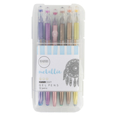 KaiserCraft, Metallic Gel Pens with Case, Assorted Colors, Pack of 12