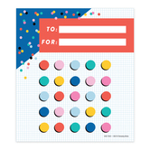 Colorfetti Collection, Customizable Mini Incentive Charts, 5.25 x 6 Inches, 36 Sheets