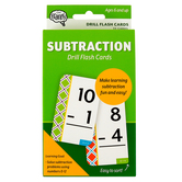 The Brainery, Subtraction Math Drill Flash Cards, 55 Cards, 3.25 x 5.25 Inches, Ages 6-10