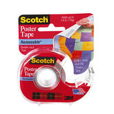 Scotch, Removable Double Stick Poster Tape in Dispenser, .75 x 150 Inches, Clear, 1 Roll