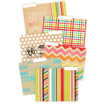 TooCute Collection, Patterns & Words File Folders, 12 Count