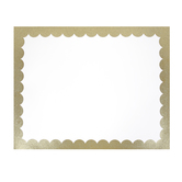 Glitter Framed Poster Board, White and Gold, 22 x 28 Inches, 1 Piece
