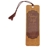 Dicksons, Tasseled Bookmark for Pastor's Wife, Brown, 2 x 6 inches