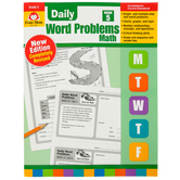 Evan-Moor, Daily Word Problems Teacher's Edition, Paperback, 128 Pages, Grade 5