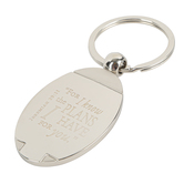 Christian Art Gifts, Jeremiah 29:11, For I Know Keyring in Tin, Stainless Steel, Silver, 3 x 2 inches