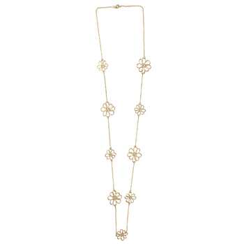 Mercy Adorned, Proverbs 16:3 Gold Flower Designs Necklace, Gold, 38 inches