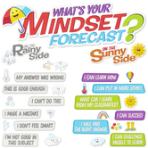 Eureka, Growth Mindset What's Your Mindset Forecast Bulletin Board Set, Multi-Colored, 34 Pieces