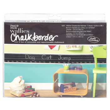 Wallies®, Peel and Stick Chalkborder Alphabet with Chalk, 38 x 6 1/4 Inches, 2 Sheets
