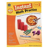 Teacher Created Resources, Instant Math Practice Workbook, Reproducible Paperback, 144 Pages, Grade 2