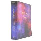 NLT Inspire Prayer Bible, Giant Print, Imitation Leather, Purple
