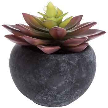 Artificial Echeveria Succulent, Plastic, Purple, 4 x 3 3/4 inches