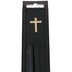 Christian Art, Ribbon Bible Bookmark with Two Pen Holders, Black, 1 1/2 x 8 inches
