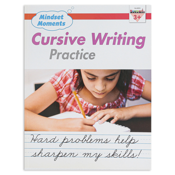 Newmark Learning, Mindset Moments Cursive Writing Handwriting Practice Book, 48 Pages, Grades 3-4