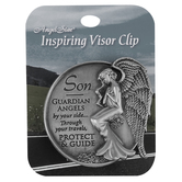 AngelStar, Son Guardian Angel Visor Clip, Zinc Alloy, 2 1/2 inches