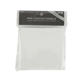 Master's Touch, Mini Canvas Panels, 4 x 4 Inches, White, Set of 4