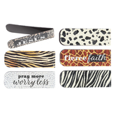 Salt & Light, Animal Print Magnetic Bookmarks, 1 Each of 6 Designs, 4 3/4 x 2 inches Each