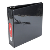 Bazic Products, Dual Pocket View Binder, Black, 11 1/2 x  3 x 12 inches