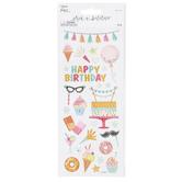 the Paper Studio, Happy Birthday Glitter Stickers, 28 Stickers