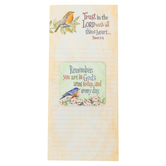 Product Concepts, Trust in the Lord Inspirational Memo Pad and Gift Magnet, Yellow, 4 x 9 Inches