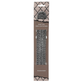 Ornate Metal Incense Holder, Black & Silver, 9 1/4 x 1 1/4 inches