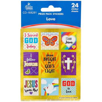 Carson-Dellosa, Love Stickers, Prize Pack, Multi-Colored, 120 Stickers