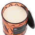 Darsee & David's, Clementine & Mango Diamond Patterned Jar Candle, Coral, 10 Ounces