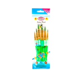 Big Kid's Choice, Deluxe Round Paint Brush Set, Green, 6 Pieces