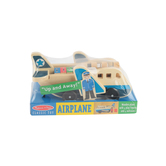 Melissa & Doug, Airplane Play Set, Wood, 9 Pieces, Ages 3 and Older