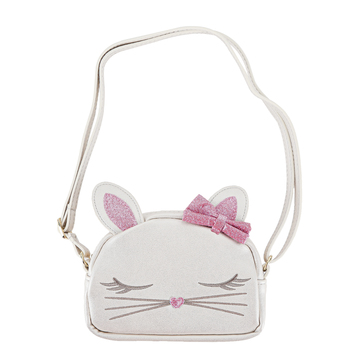 Stephen Joseph, Bunny Rabbit Fashion Purse, Polyurethane & Polyester, White, 6 x 4 1/4 inches