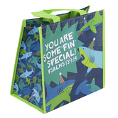 Stephen Joseph, Psalm 139:14 Some Fin Special Shark Recycled Gift Bag, 9 x 5 1/2 x 9 1/2 inches