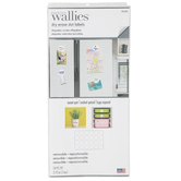 Wallies, Peel and Stick Dry Erase Dot Labels with Marker, White, 2.75 Inches, 24 Round Pieces
