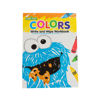 Sesame Street, Colors Write and Wipe Preschool Workbook, Paperback, 7 Pages, Ages 3-5