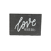 Love Never Fails Tabletop Plaque, Black & White, 4 1/2 x 6 1/2 inches