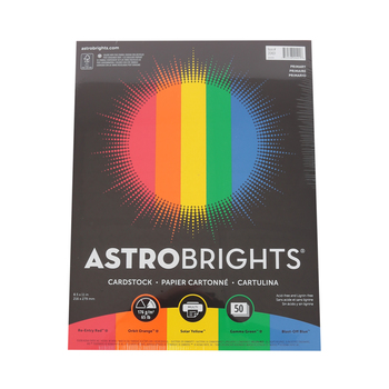 Neenah, Astrobright, Primary Cardstock, 50 pack