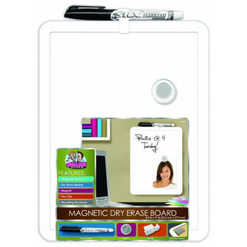 The Board Dudes, Magnetic Dry Erase Board with Marker, 8.5 x 11 Inches, White, 2 Pieces