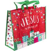 Renewing Faith, Jesus Is The Best Gift Jumbo Tote Bag