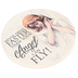 Carson Home Accents, Guardian Angel Car Coaster, Absorbent Stone, Cream, 2 3/4 Inches
