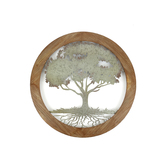 Framed Tree of Life Round Metal Wall Art, 34 inches