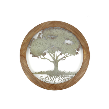 Framed Tree Of Life Round Metal Wall Art 34 Inches Mardel