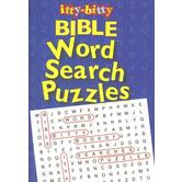 itty-bitty, Bible Word Search Puzzles, by Warner Press, Paperback