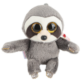 Ty Beanie Boos, Dangler the Sloth Clip Stuffed Animal, Gray, 5 inches