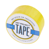Yellow Art Project Tape, 1 7/8 inches x 20 yards, 1 Roll