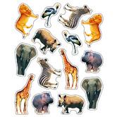 Carson-Dellosa, Wild Animals of the Serengeti Shape Stickers, 1 x 1 Inch, Multi-Colored, Pack of 84