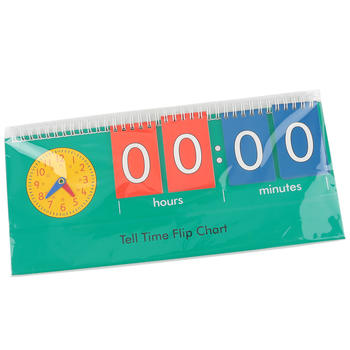 Learning Advantage, Student Time Flip Chart, 12.60 x 3.54, Grades K-2