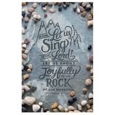 Salt & Light, Psalm 95:1 Let Us Sing Church Bulletins, 8 1/2 x 11 inches Flat, 100 Count
