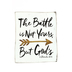 The Battle Is Not Yours But God's Tin Sign, 8 1/2 x 10 inches